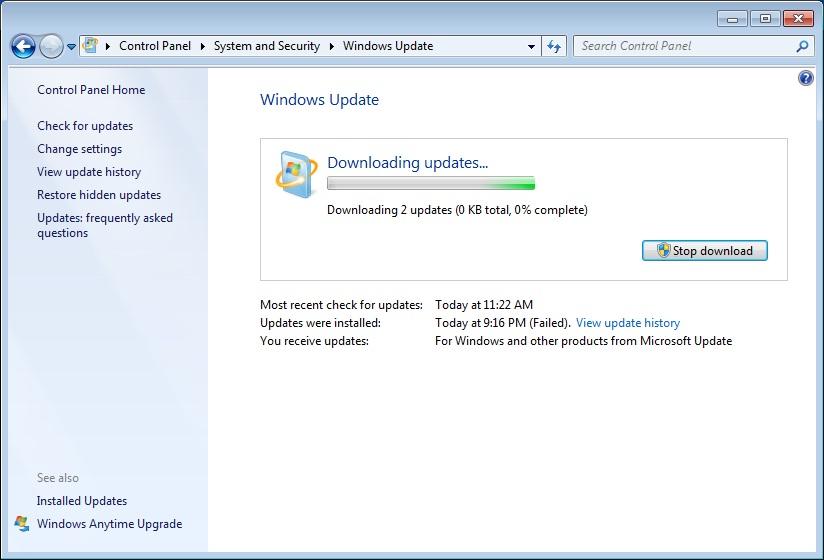 Po následujících aktualizacích Microsoft Windows systém NESPUSTÍTE! (Aktualizováno)