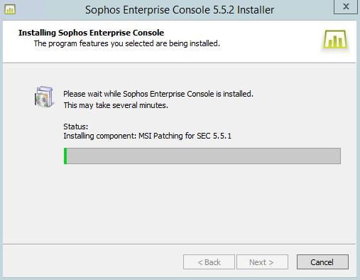 Vydání Sophos Enterprise Console 5.5.2