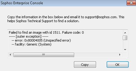 Sophos Enterprise Console – MS update problem